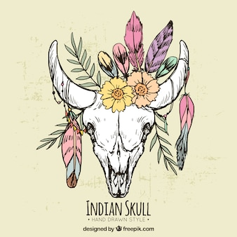 Animal indian skull background