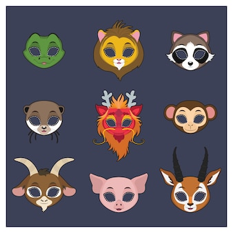 Animal masks collection