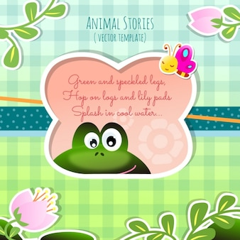 Животные истории, лягушка
