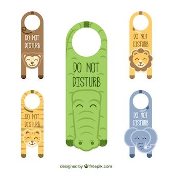 Animals door hangers
