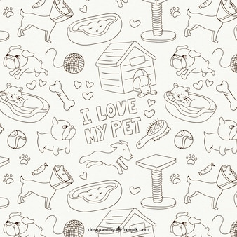 Animals drawings pattern