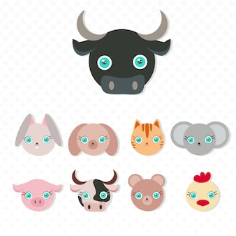 Animals masks collection