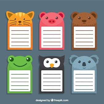 Animals notes pack