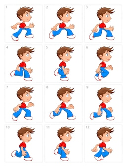 Animation of a child running