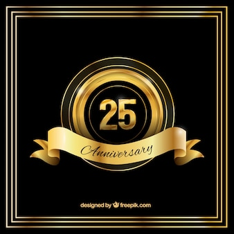 Anniversary background in golden and black color