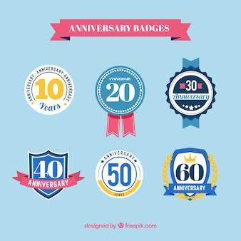 Anniversary badges pack