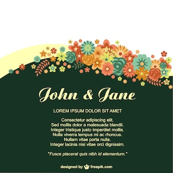 Anniversary floral invitation for life events
