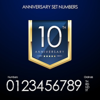 Anniversary numbers set