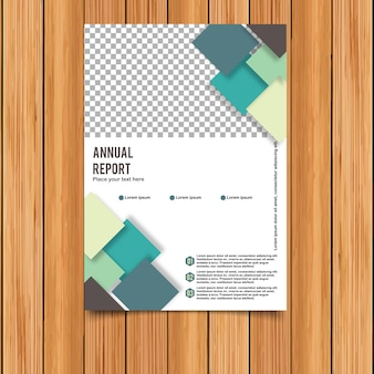 Annual report template with squares