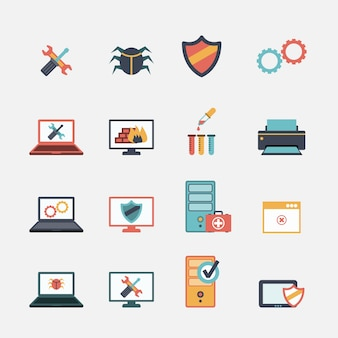 Antivirus icons collection
