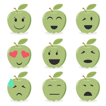 Apple emoticons collection