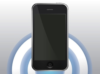apple frame Iphone device vector