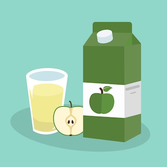 Apple juice background