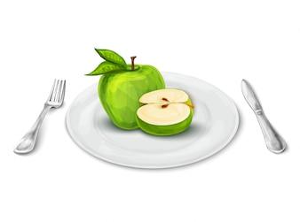 アップル・オン・プレート