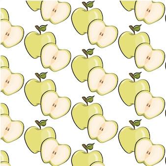 アップルのパターンの背景