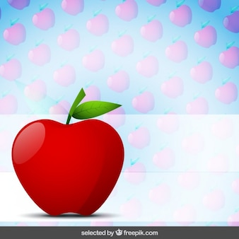 Apple with apples background