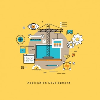 Application development background