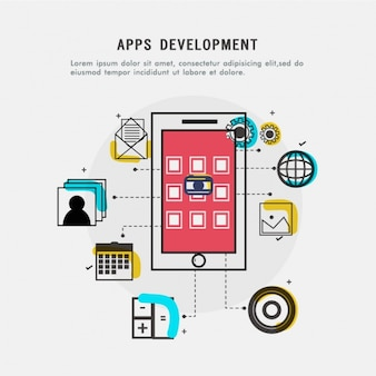 Apps development background