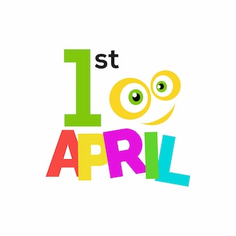 April fool's day, funny colorful background