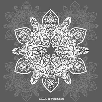 Arabesque free floral background