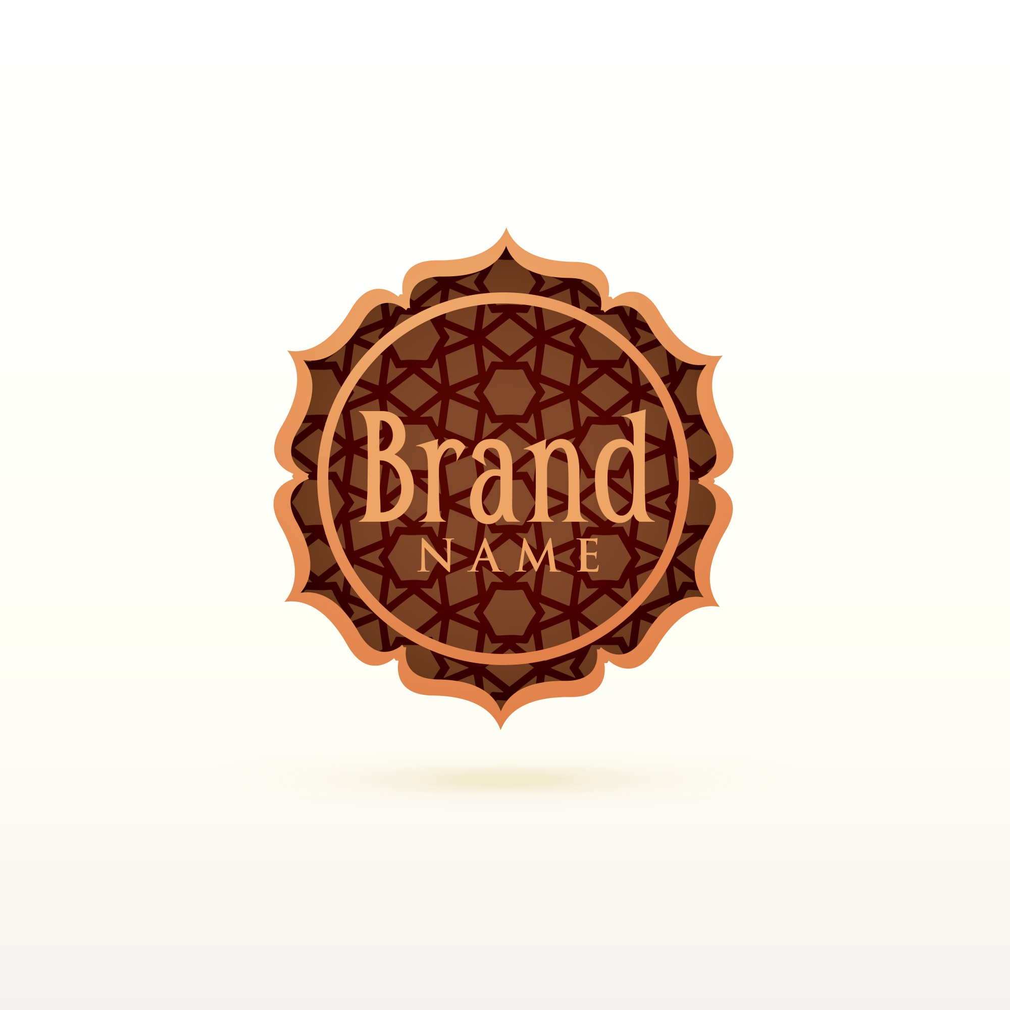 Arabic ornamental logo