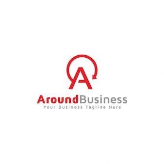 Around business logo template