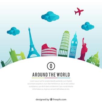 Around the world background