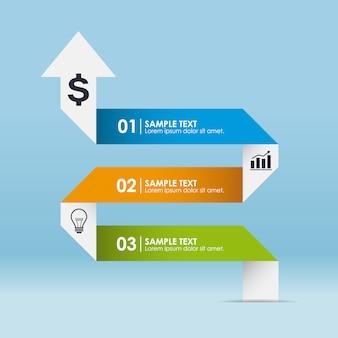 矢印のインフォグラフィックデザイン