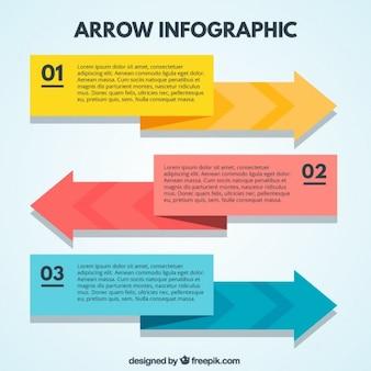 Arrow infographic in flat design