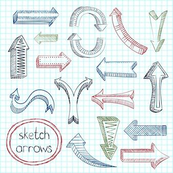Arrows icon set sketch