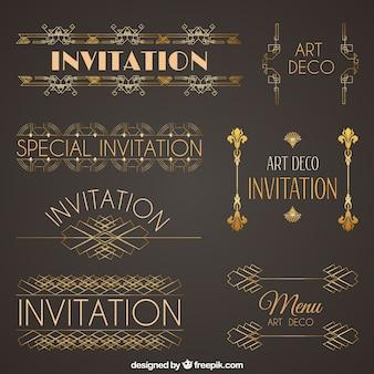 Art deco decoration collection