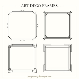 Art deco frames pack