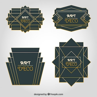 Art deco ornament collection