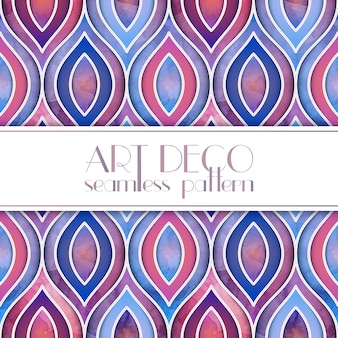 Art deco watercolor pattern design