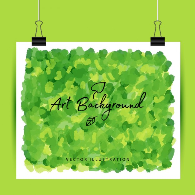 Art green background