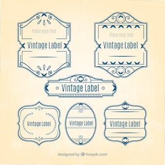 Art nouveau vintage label collection