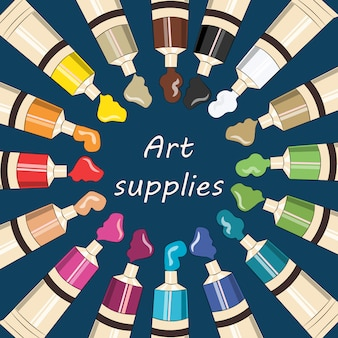 Art supplies background