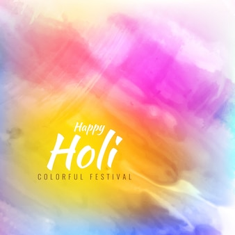 Artistic background with soft watercolors for holi