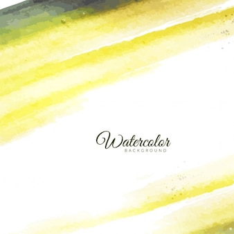 Artistic background with yellow watercolor
