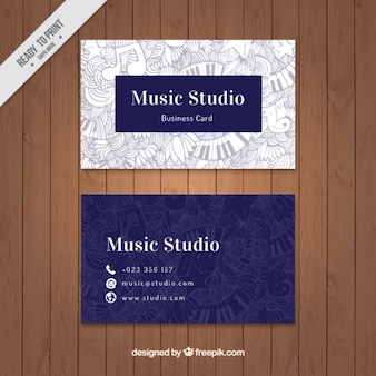 Artistic card of music studio