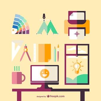Artistic corner for a designer