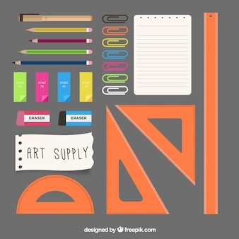 Artistic elements in flat design