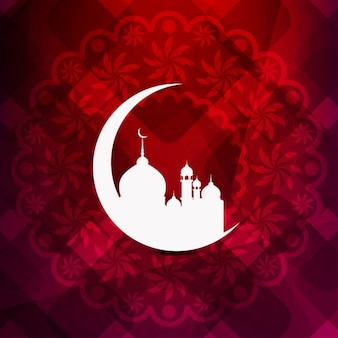 Artistic islamic background design