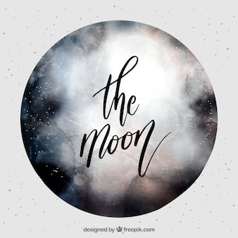 Artistic moon background
