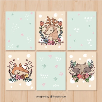 Artistic pack of animal cards