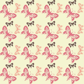 Artistic pattern with butterflies