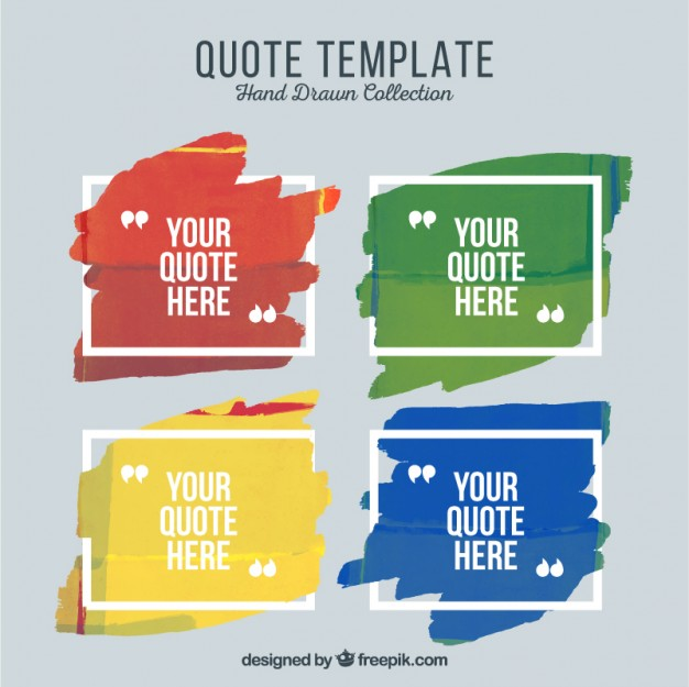 Artistic quote templates of paint