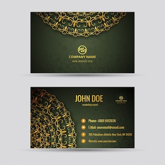 Artistic visiting card
