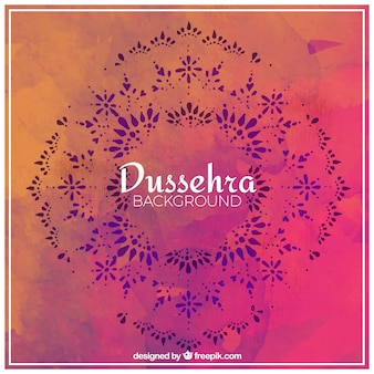 Artistic watercolor background of dussehra