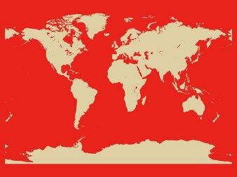 asia antarctica continents map vector